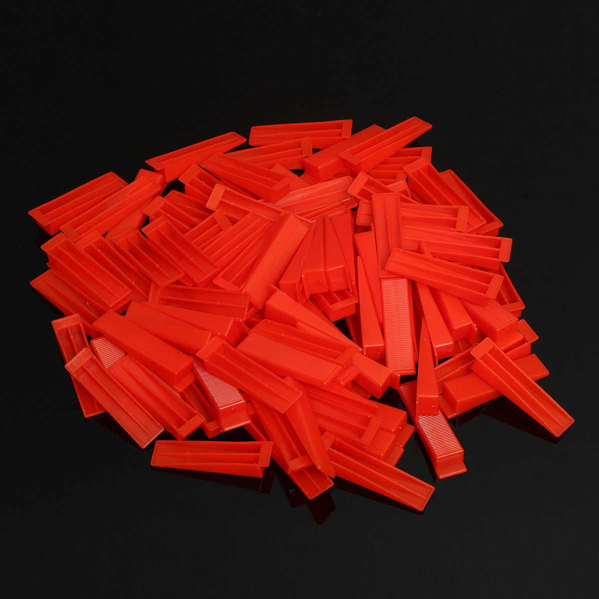 701Pcs Tile Leveling System 500x 1.5mm Clips+200x Red Wedges+1x Pliers Floor Wall Tiling Spacer Tools