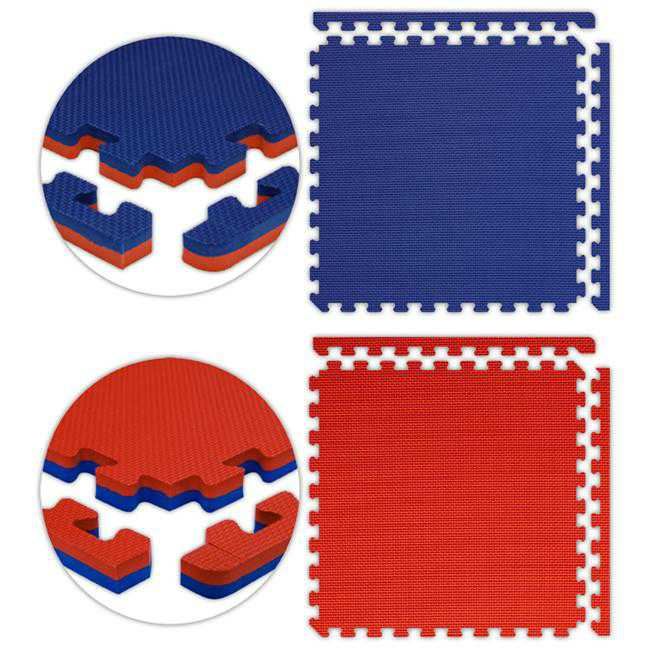 Alessco JSFRRDRB2224 Jumbo Reversible SoftFloors -Red-Royal Blue -22 x 24 Set